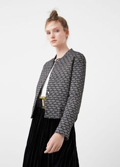 Textured cotton-blend jacket | MANGO