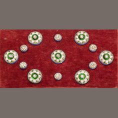 A complete set of diamond-set enamelled gold Buttons Benares, early 20th Century(13)