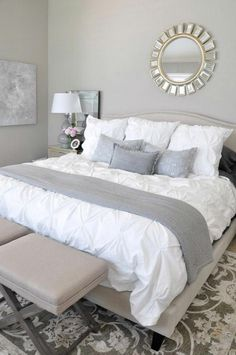 Grey and White Bedroom Design. Grey and White Bedroom Design. Bedroom Decor Gorgeous Gray and White Bedroom Decor with Grey Bedroom Furniture, Design Furniture, Home Decor Bedroom, Bedroom Ideas, Furniture Ideas, Grey Home Decor, Smart Furniture, Decor Room, White Furniture