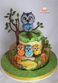 owls cake by Carmen Iordache