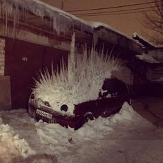 Only in Russia. Ice car.