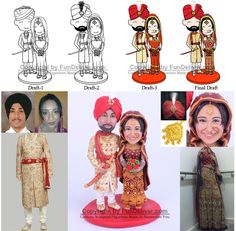 Hindu or Bollywood, Indian Theme Wedding Cake Toppers and Decorations