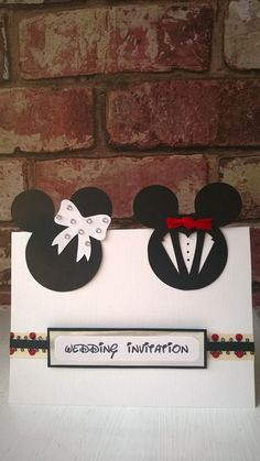 Minnie & Micky Mouse Wedding Card or Invites