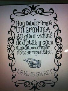 Cartel y Frase para Mesa dulce