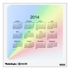 Rainbow 2014 Wall Calendar Decal - small Room Sticker Design from Calendars by Janz