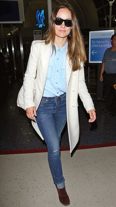 Stylist--some celebrity inspiration. I think Olivia Wilde has great street style. Classic, but with a little edge.