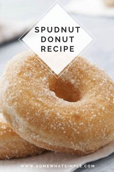 This spudnuts recipe is super easy to make and they're delicious! Spudnuts are donuts made with mashed potatoes. If you've ever had potato bread, imagine those in donut form. Easy Donut Recipe, Baked Donut Recipes, Waffle Recipes, Potato Recipes, Recipes With Yeast, Sweet Recipes, Baking Recipes, Bread Recipes, Recipes
