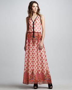Electrifying Printed Silk Maxi Dress by Nanette Lepore at Bergdorf Goodman.