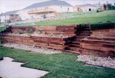 retaining wall steps for the hill in the back yard