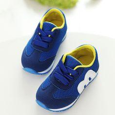 Otoño caliente de la venta de los niños m shoes alfabeto malla running casual kids shoes deportes antideslizante zapatillas de deporte de moda muchachos de las muchachas 21-30
