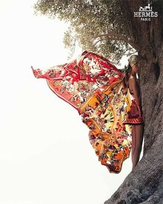 Breath-taking. We want a blownup massive version on our wall!! Hermes Paris scarf, Avant garde photography