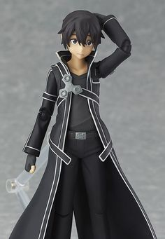 The hero must take up his sword once again. From 'Sword Art Online The Movie: Ordinal Scale' comes a figma of Kirito with an additional weapon from the movie! Using the smooth yet posable joints of figma, you can act out a variety of dif. Kirito Sword, Sword Art Online Kirito, Asuna, Sword Art Online Figures, Otaku, Accel World, Anime Figurines, Kaichou Wa Maid Sama, Anime Toys