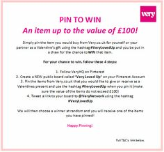 For Full T&Cs visit: http://blog.very.co.uk/?p=35381 x  #VeryLovedUp #Valentine #ValentinesDay #Love #Gift #Present #Her