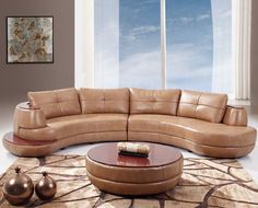 Honey Sectional Set by Global Furniture in Living Room Sets. This ultra modern Sectional Set by Global Furniture finished in honey colored bonded leather consists of left and right arm loveseats to create a coordinated seamless sectional sofa