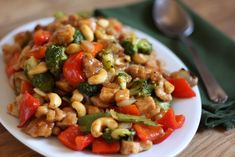 Barefeet In The Kitchen: Sriracha Honey Cashew Chicken ~ start to finish in 30 MINUTES or less.