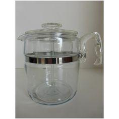 9 Cup Pyrex Flameware Percolator #7759 Complete