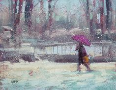 'North Garden in the Winter'     8x10      pastel    ©Karen Margulis  contact me for availability     Fear not the Lights. ...