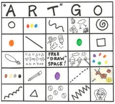 beginning or end of year art review game- printable