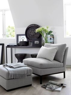 Une pièce à vivre en ton de gris | design d'intérieur, décoration, pièce à…