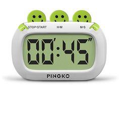 PINGKO Digital Kitchen Timer, Big Digits, Loud Alarm, Magnetic ...