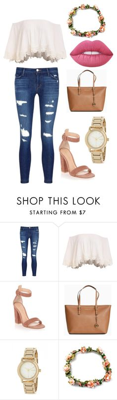 """""""Simplicity"""" by neonavale on Polyvore featuring J Brand, Gianvito Rossi, Michael Kors, DKNY and Lime Crime"""