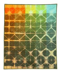 Paint Chip and Shibori Quilt