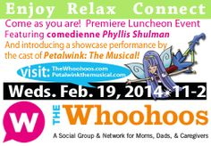 St. Louis Friends, you've asked for it, and you got it: a fairy easy way for you to see a sneak peek of Petalwink: The Musical (and enjoy an elegant lunch and make fun connections)! The Petalwink cast will be showcasing 3 fabulous numbers on Feb. 19 at the Whoohoos Luncheon at Ces & Judy's in St. Louis. Just repin this image and you're eligible! Winners announced Feb. 14. Can't wait to see you next week!