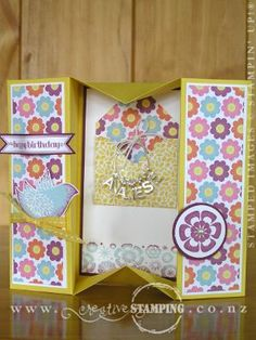 The Box Card makes a great little card-and-gift in one. Try hanging a small gift like a necklace inside, or add a voucher or gift tags.