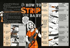 """""""US Army Preventive Maintenance Manual for the M16A1 Rifle, published by PS Magazine in a comic book form. The idea was that young, uneducated soldiers were more likely to read comics than boring military manuals. This one was made my the prominent comic artist Will Eisner."""""""