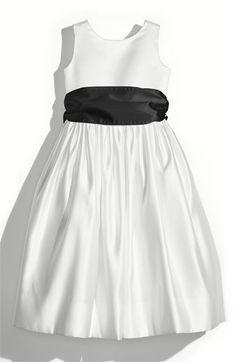 Us Angels White Tank Dress with Satin Sash (Toddler, Little Girls & Big Girls) | Nordstrom