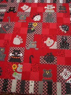 Dog quilt.  How cute b