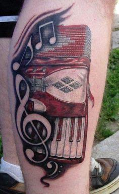 Matthew Davidson   - email   Accordion Tattoo    Placement: Leg