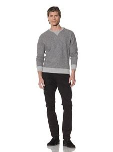 Shades of Grey by Micah Cohen Men's Crewneck Sweatshirt (Heather Grey)