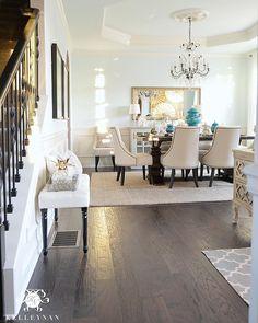 Kelley Nan Kelleynan O Blue Dining Room With Restoration Hardware Trestle Table RoomsTray CeilingsCrystal ChandeliersLiving