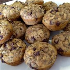 Banana Chocolate Chip Mini-Muffins Allrecipes.com