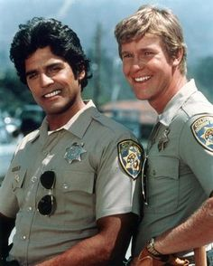 CHiPs - (1977 - 1983) Officers Poncherello (Erick Estrada) and Baker (Larry Wilcox) of the Californian Highway Patrol