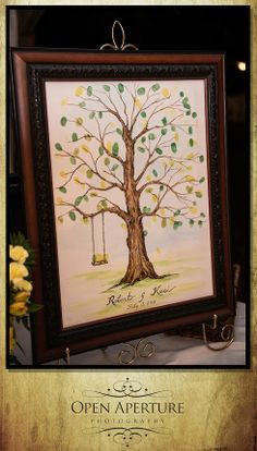 Guest thumbprint art | Robbie and Kasi Wedding | New Bern NC Photographers