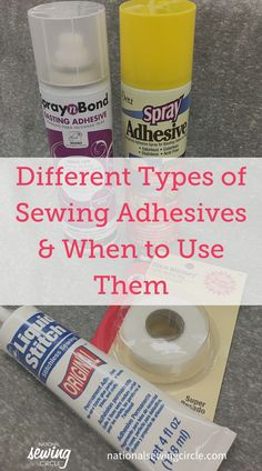 Whether you're plotting an appliqué project, hemming a garment, or strengthening your stitches, sewing adhesives are definitely a helpful addition. It's surprisingly easy to use spray adhesive, basting tape, and seam sealant in your sewing projects – you'll soon learn that these tools belong in every sewing room! Sewing Hacks, Sewing Tutorials, Sewing Projects, Dress Tutorials, Sewing Tips, Diy Projects, Making Clothes From Old Clothes, Clothes Crafts, Quilting Tips