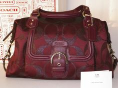 Genuine COACH Campbell Signature Metallic Satchel. Starting at $1 on Tophatter.com!#tophattergifts