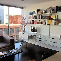 The shelving system from Vitsoe, designed by Dieter Rams.