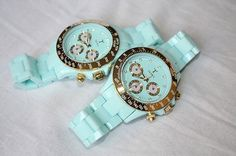 tiffany blue or mint green watch - Seek and get recommendations of where to buy in your specifications. Mint Watch, Aqua, Louis Vuitton, Michael Kors, Glamour, Thing 1, Tiffany Blue, Swagg, Look Fashion