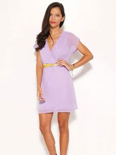Light and Airy  Lilac looks lovely across all skin tones, making this flattering frock a no-brainer. Plus, the yellow belt it comes with is the perfect accent for this shade.    Read more: Dresses To Wear To A Wedding