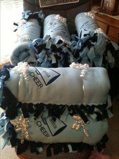 Embroidered Fleece Cheer Blankets