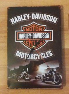 Wall+Clock+Motorcycles+Harley+Davidson