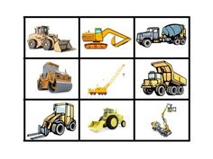 Fabulous This magnifying match game contains sets of the same construction vehicles one larger and