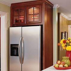 Creative Kitchen Cabinet Ideas: Over the Refrigerator