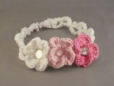 White crochet headband. $6.00, via Etsy. @Angela Gray Gray ... I would buy a ton of these!