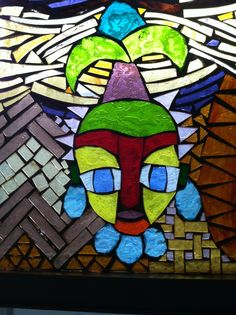 All recycled stained glass. Mosaic Art, Art, Stained Glass, Symbols