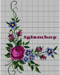 Image may contain: flower and plant Cross Stitch Rose, Cross Stitch Flowers, Cross Stitch Charts, Cross Stitch Patterns, Crewel Embroidery, Cross Stitch Embroidery, Blank World Map, Hand Art, Bargello