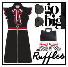 """May n. 3 - Go big... ruffles!"" by martinambf on Polyvore featuring moda, Gucci, Pollini e Fendi"